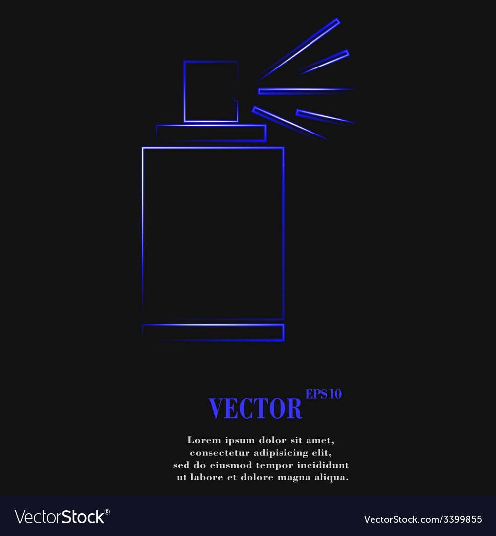 Aerosol paint icon symbol flat modern web design vector   Price: 1 Credit (USD $1)