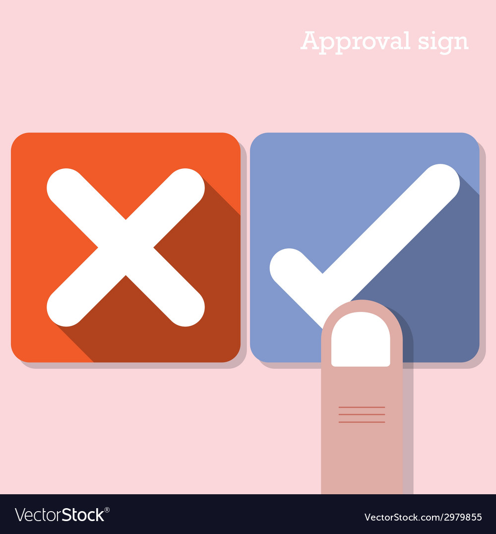 Approval concept vector | Price: 1 Credit (USD $1)