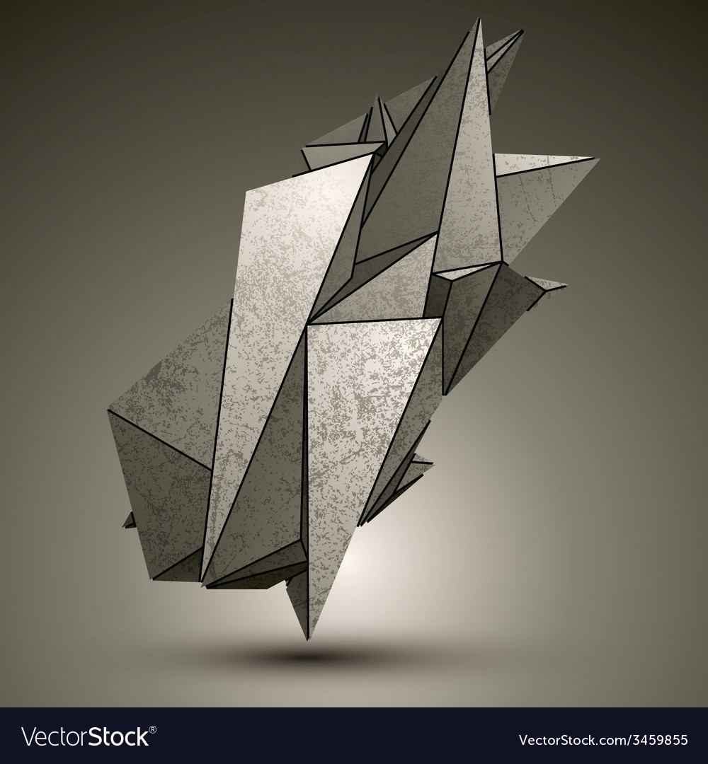 Asymmetric peak technology metallic object vector | Price: 1 Credit (USD $1)