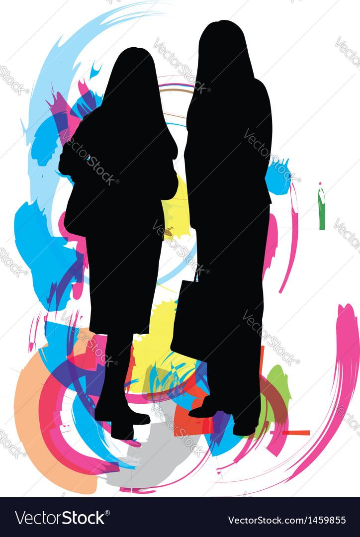 Businesswomen vector | Price: 1 Credit (USD $1)