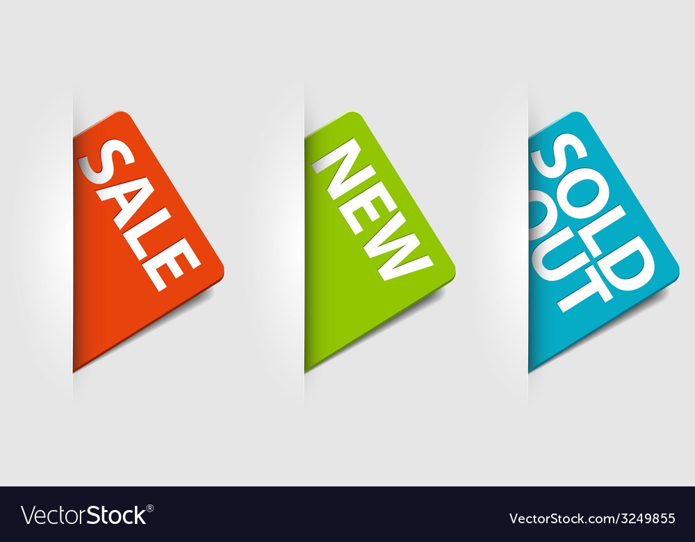 Cards for new sale and sold out items vector | Price: 1 Credit (USD $1)