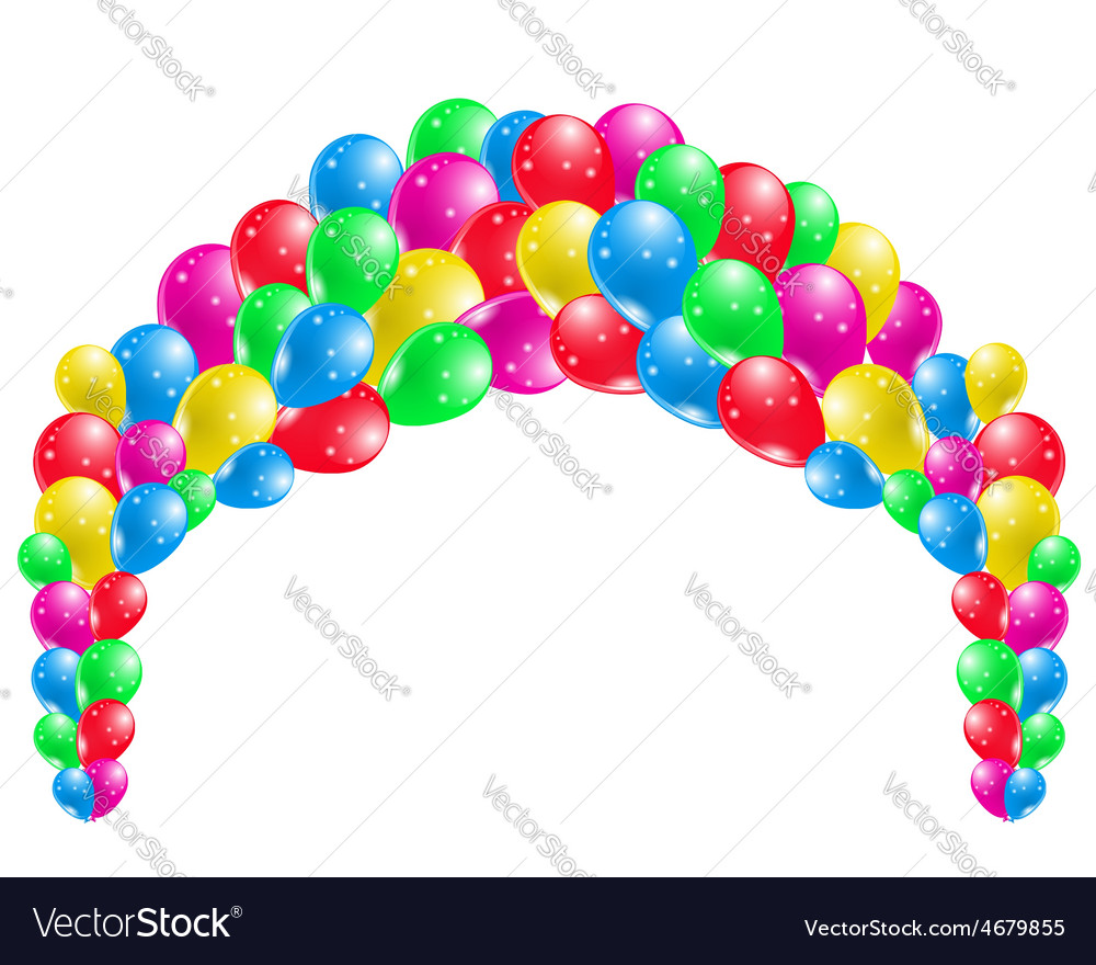 Coloured party balloons vector | Price: 1 Credit (USD $1)
