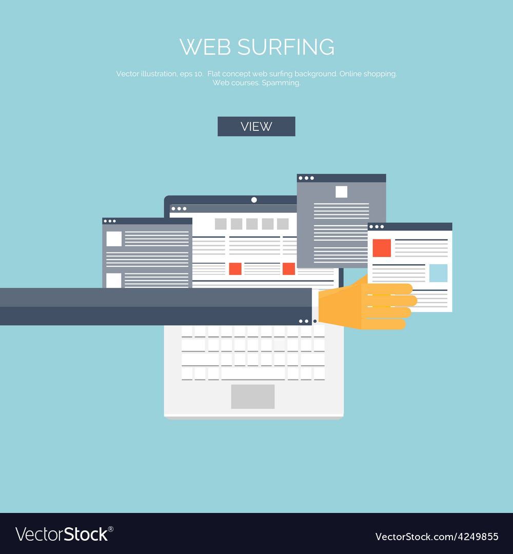 Flat web surfing background vector | Price: 1 Credit (USD $1)