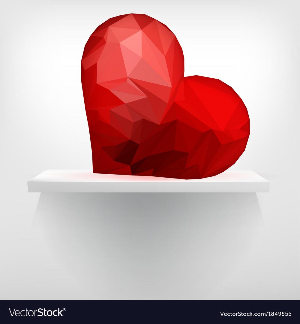 Geometric heart on shelf  eps10 vector | Price: 1 Credit (USD $1)