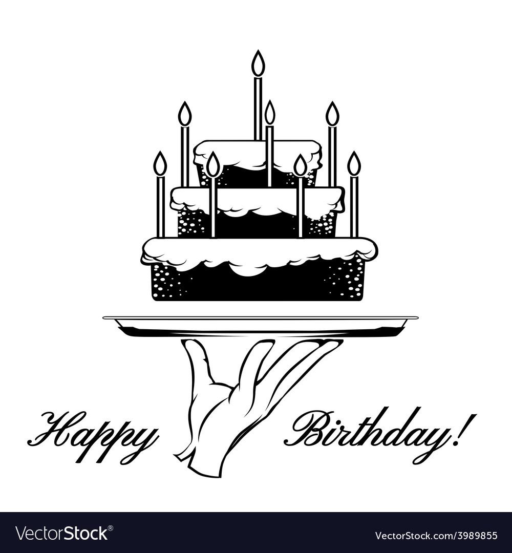 Happy birthday card element vector | Price: 1 Credit (USD $1)