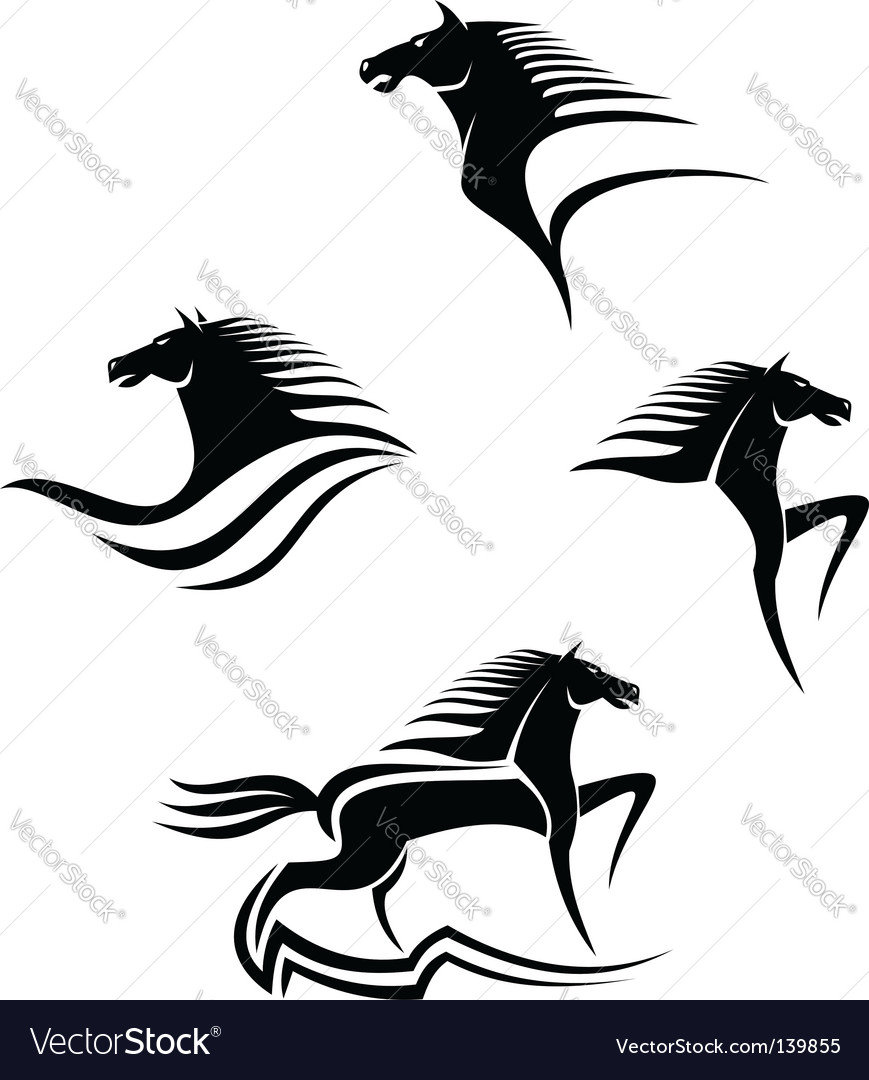 Horse silhouette vector | Price: 1 Credit (USD $1)