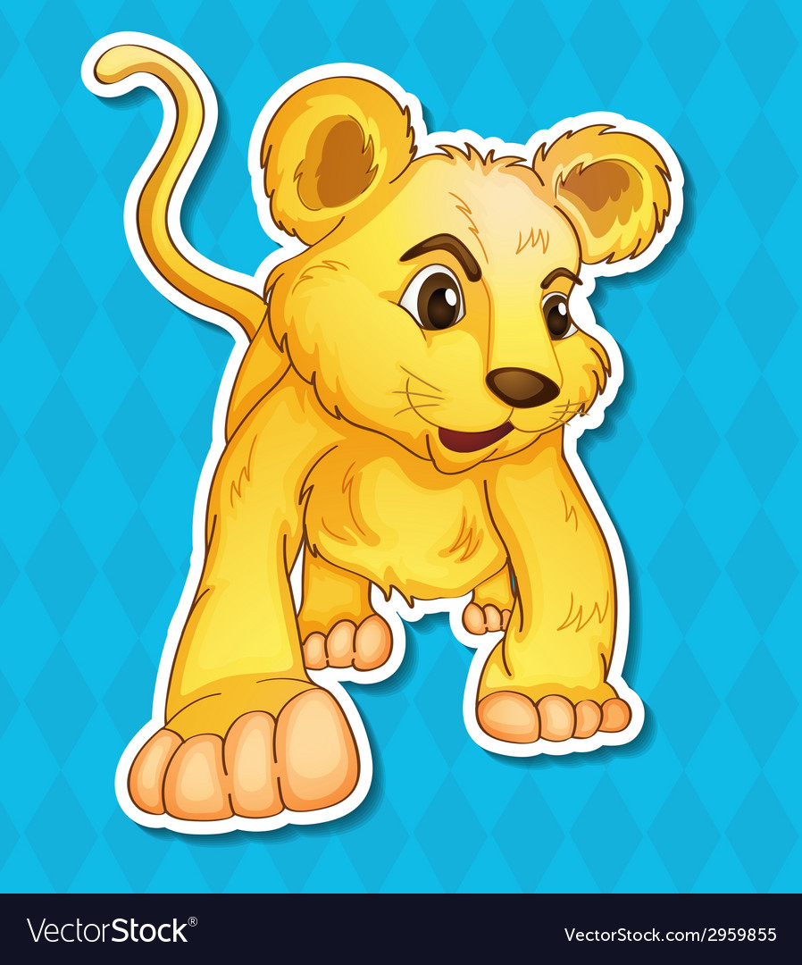 Lion cub vector | Price: 1 Credit (USD $1)