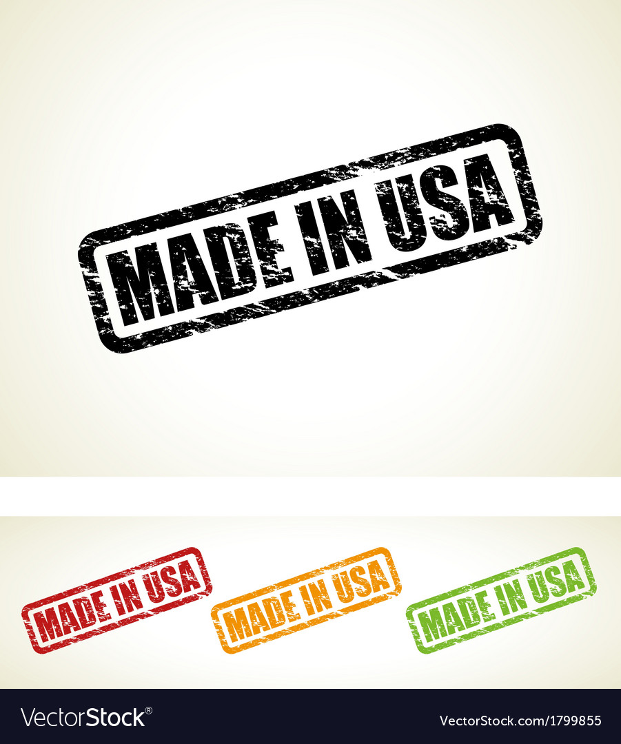 Made in usa stamp vector | Price: 1 Credit (USD $1)
