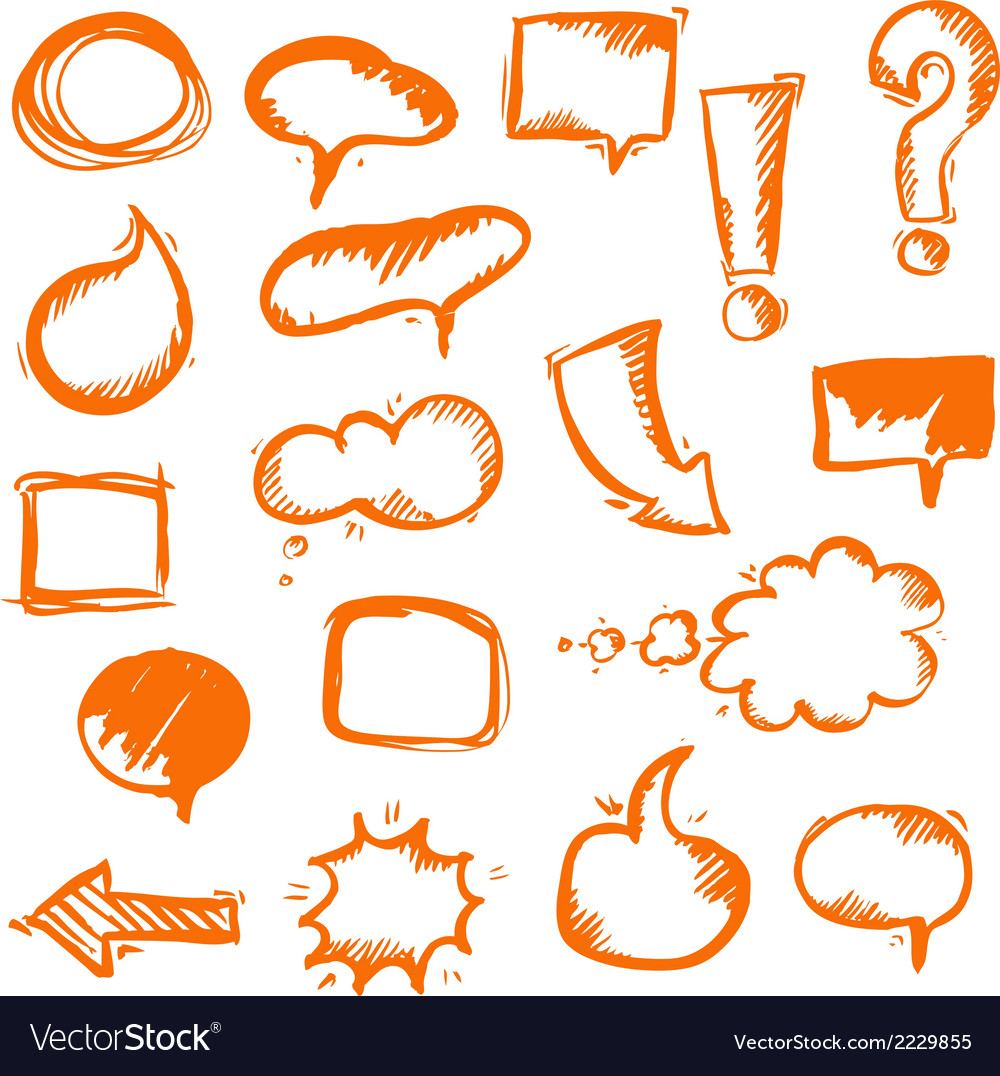 Orange hand draw vector | Price: 1 Credit (USD $1)
