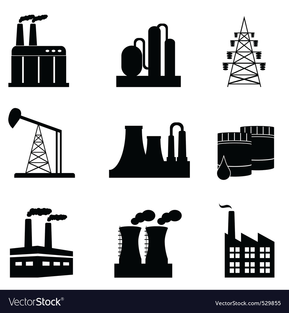 Pollution icons vector | Price: 1 Credit (USD $1)