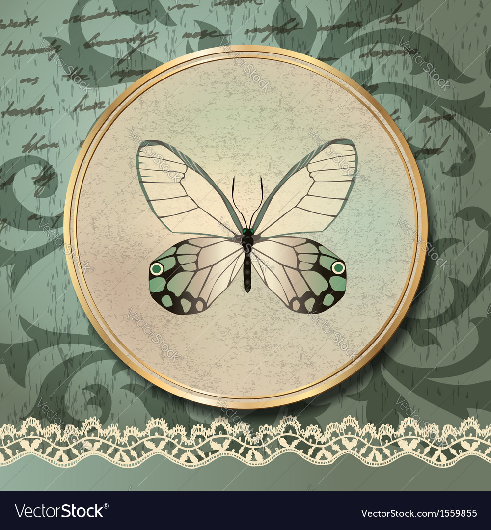 Retro butterfly vector | Price: 1 Credit (USD $1)