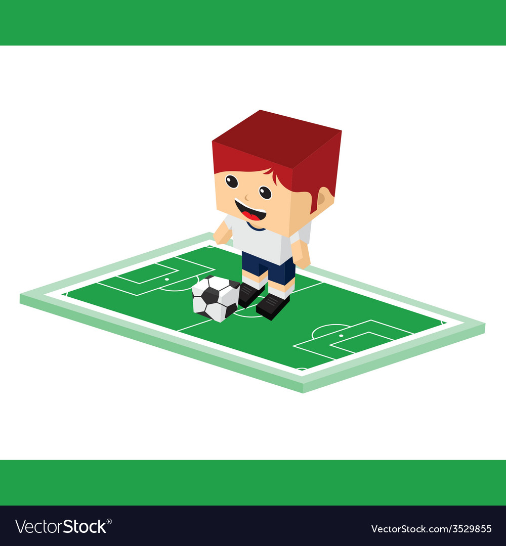 Soccer cartoon boy vector | Price: 1 Credit (USD $1)