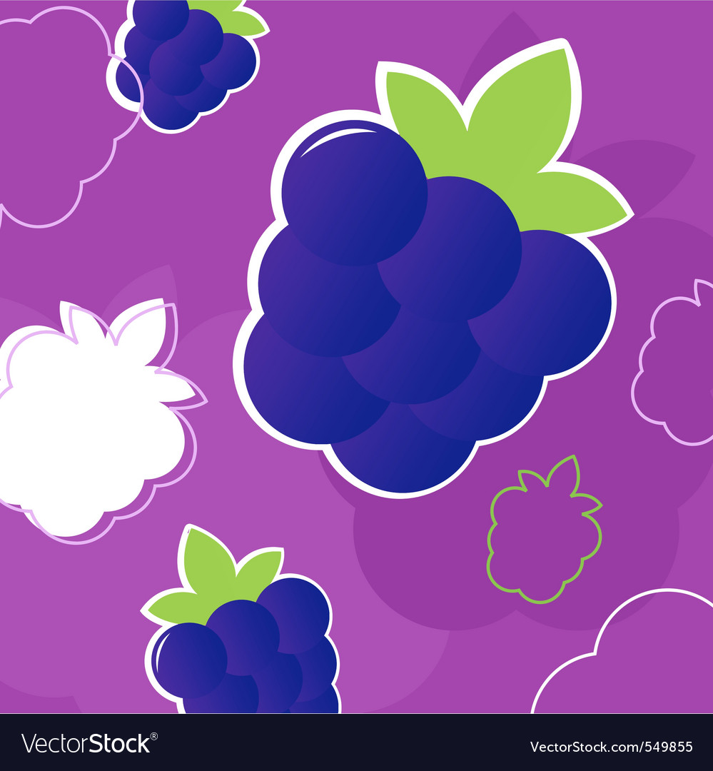Summer blackberry pattern vector | Price: 1 Credit (USD $1)