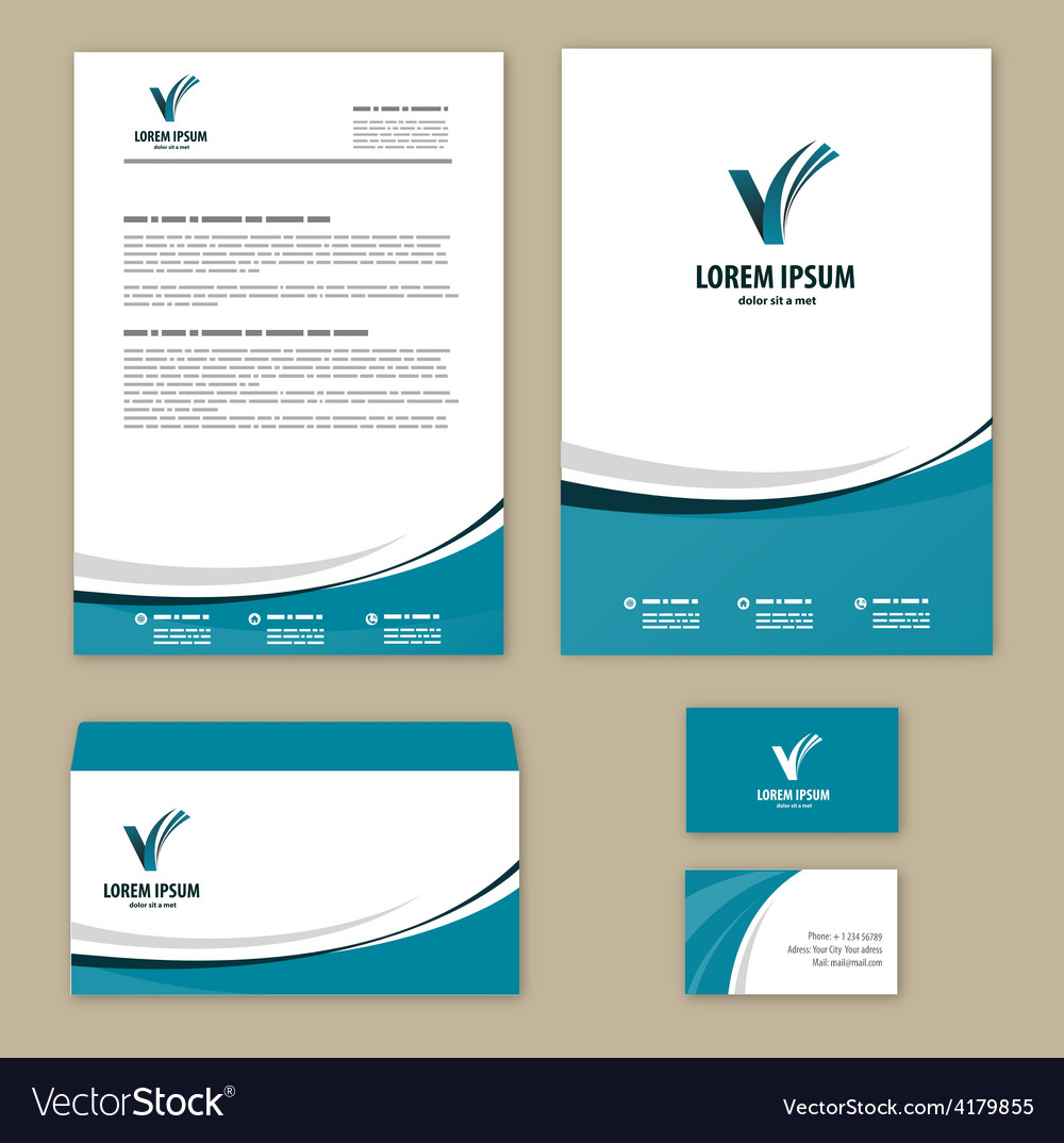 Template corporate style vector | Price: 1 Credit (USD $1)