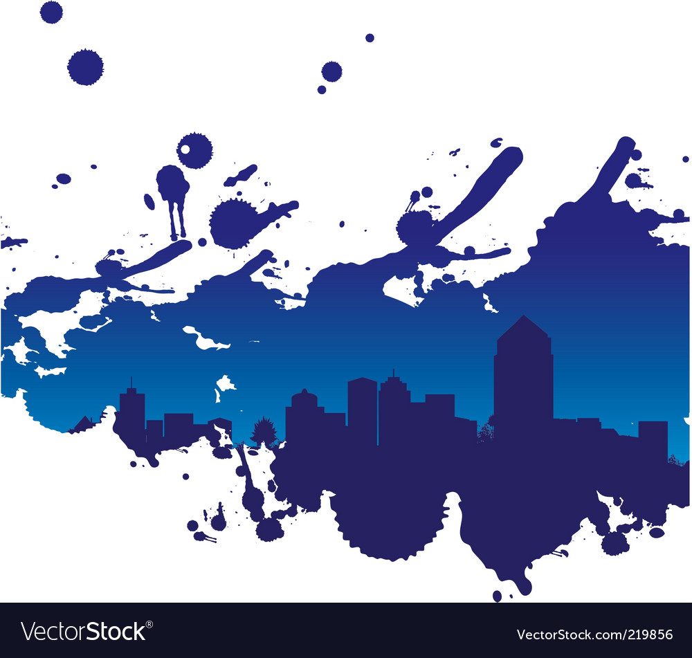 Cityscape splodge vector | Price: 1 Credit (USD $1)