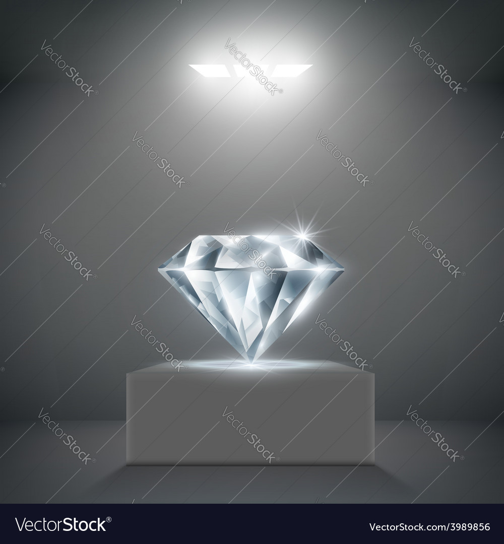 Diamond on a pedestal vector | Price: 1 Credit (USD $1)