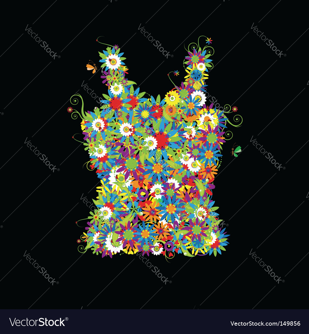 Floral t-shirt summer sale vector | Price: 1 Credit (USD $1)