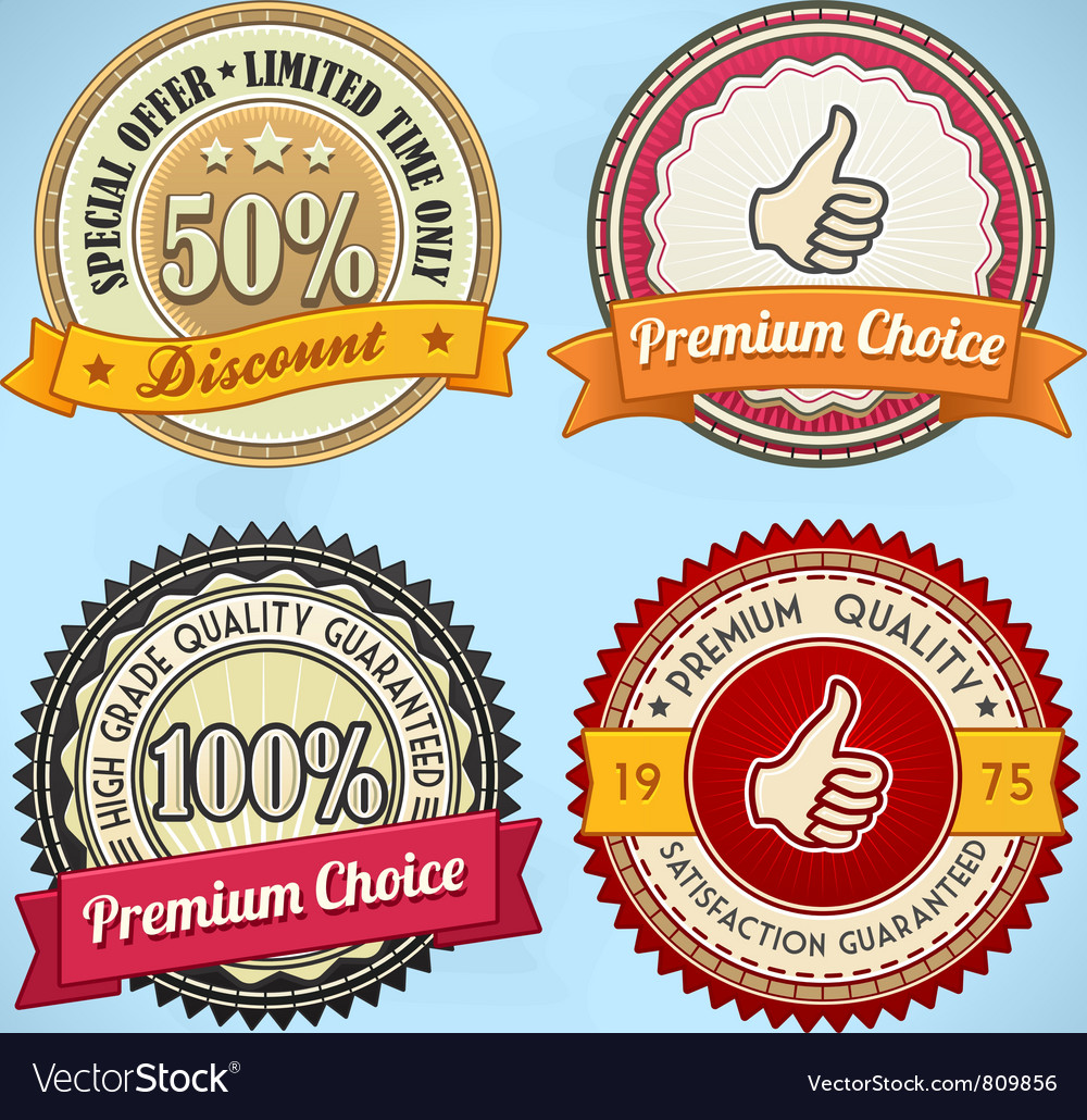 Retro badges vector | Price: 3 Credit (USD $3)