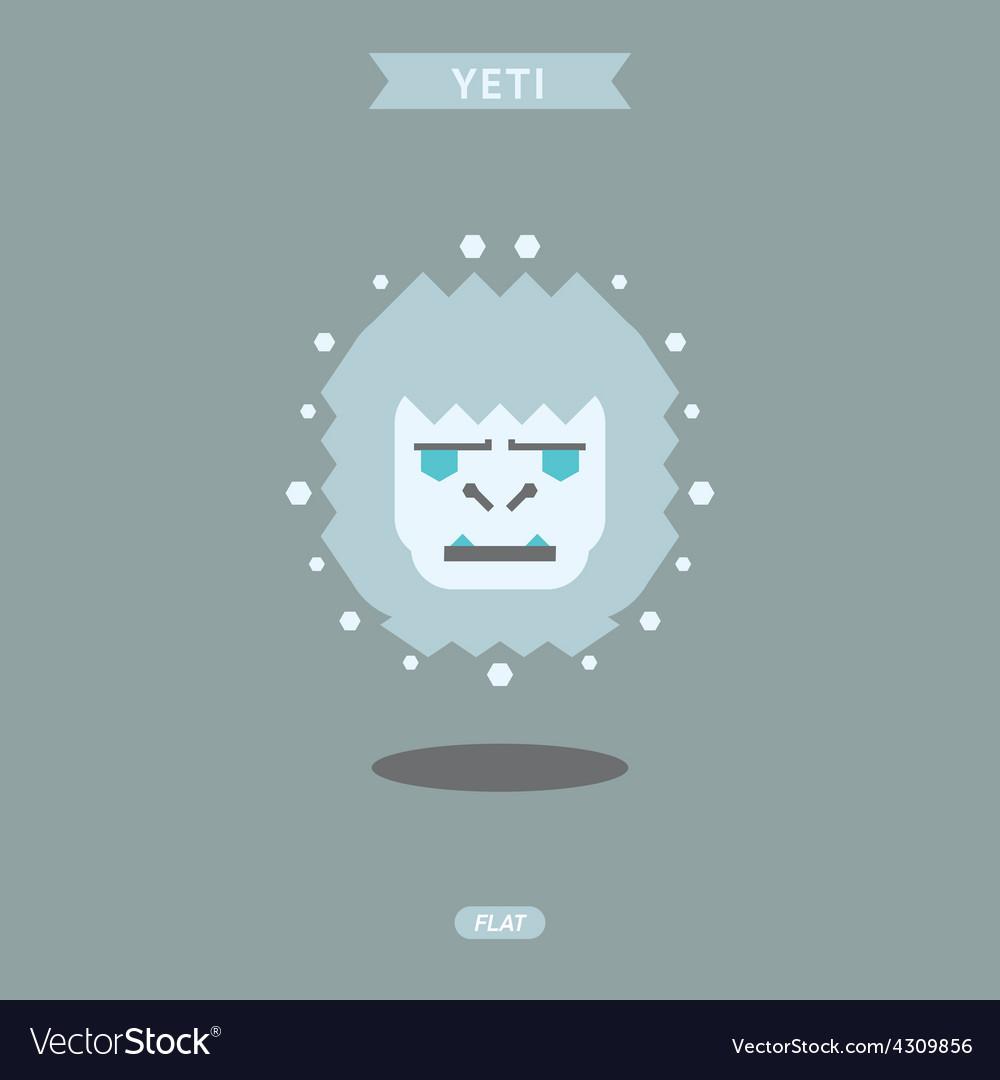 Yeti graphic head flat logo vector | Price: 1 Credit (USD $1)