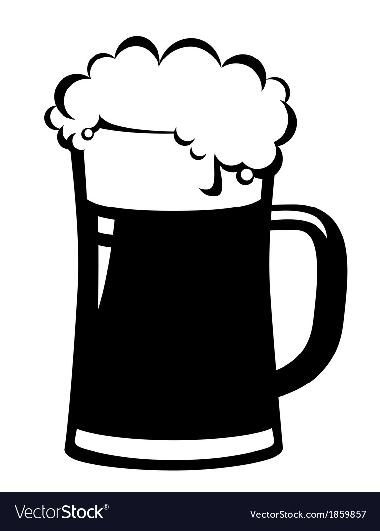 Black beer mug vector | Price: 1 Credit (USD $1)