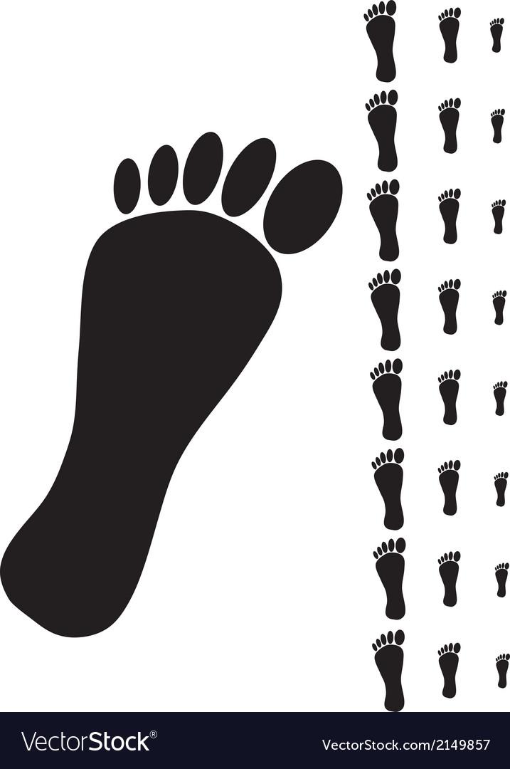 Black human footprint vector | Price: 1 Credit (USD $1)