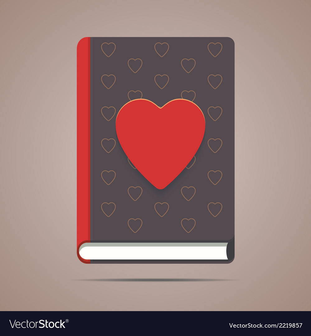 Book with heart shape vector | Price: 1 Credit (USD $1)