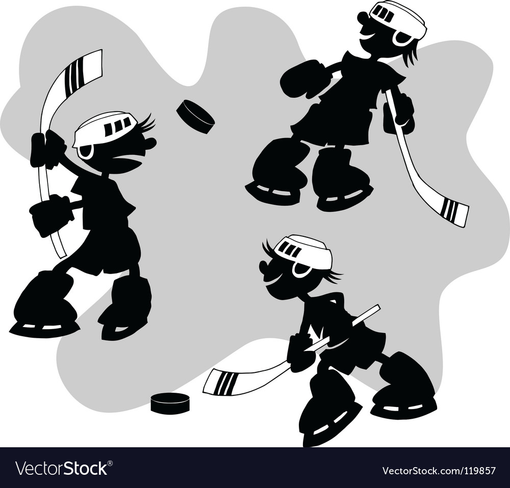 Cartoon hockey vector | Price: 1 Credit (USD $1)