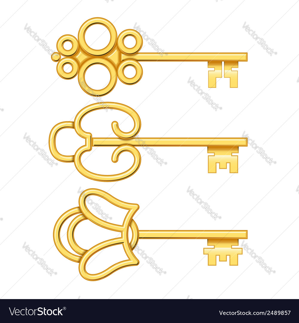 Golden keys set vector   Price: 1 Credit (USD $1)