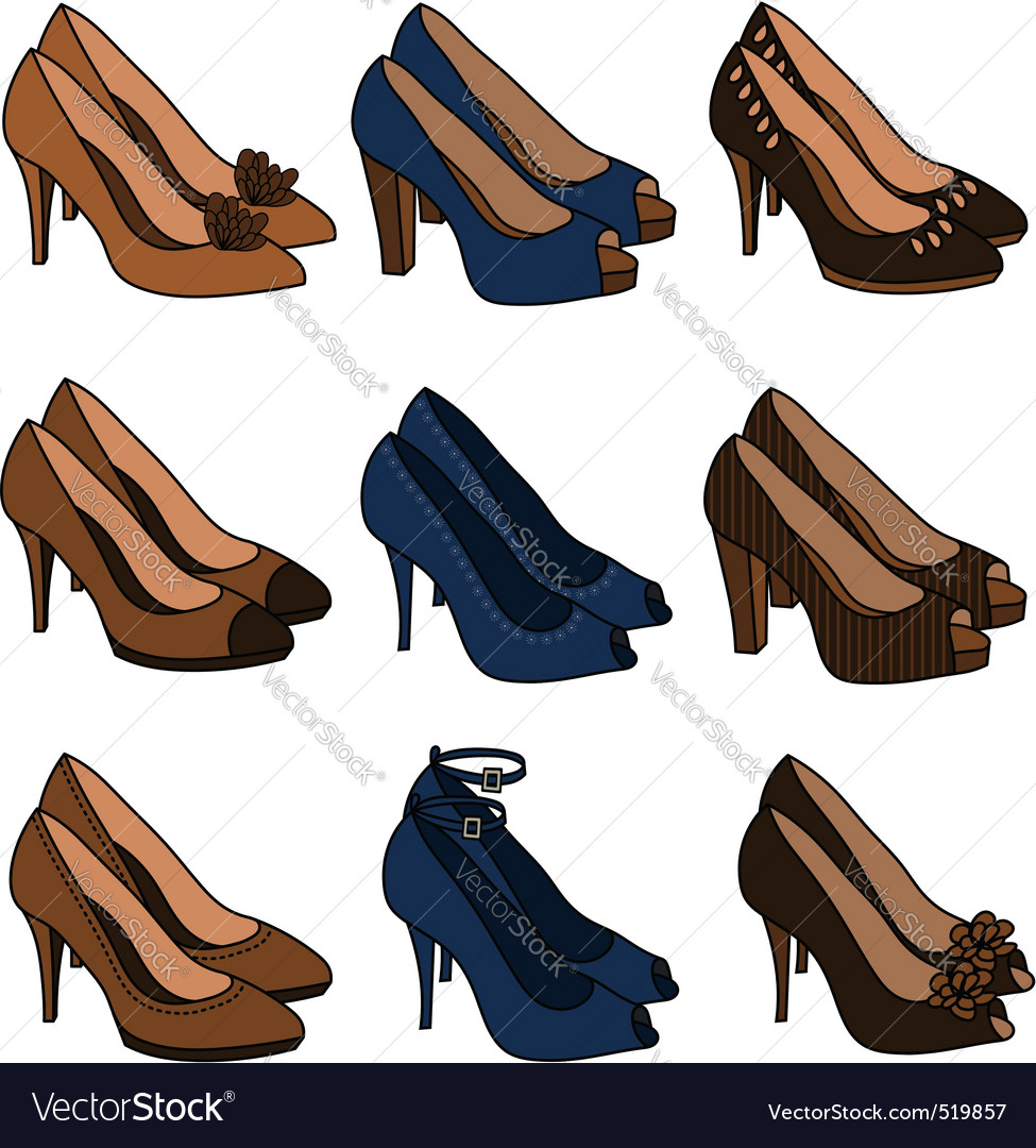 High heeled shoes vector | Price: 1 Credit (USD $1)