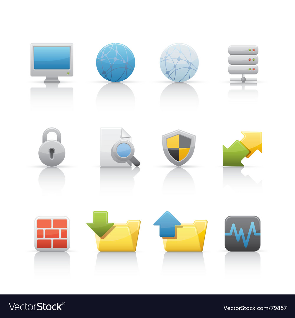 Icon set web and internet vector | Price: 1 Credit (USD $1)