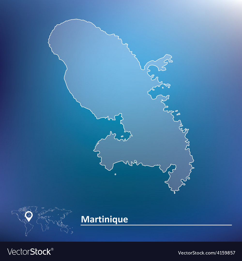Map of martinique vector | Price: 1 Credit (USD $1)