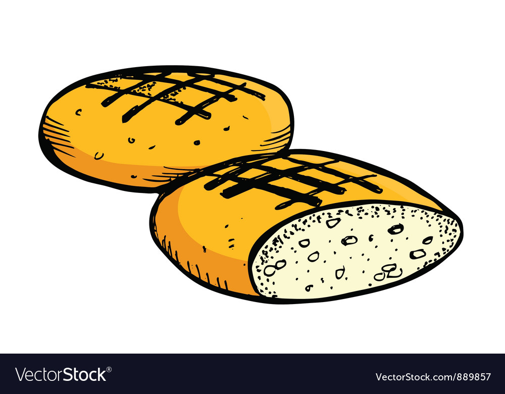 Round bread vector | Price: 1 Credit (USD $1)