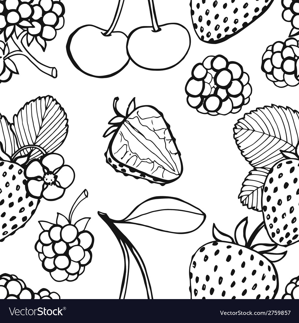 Seamless pattern of berries vector | Price: 1 Credit (USD $1)