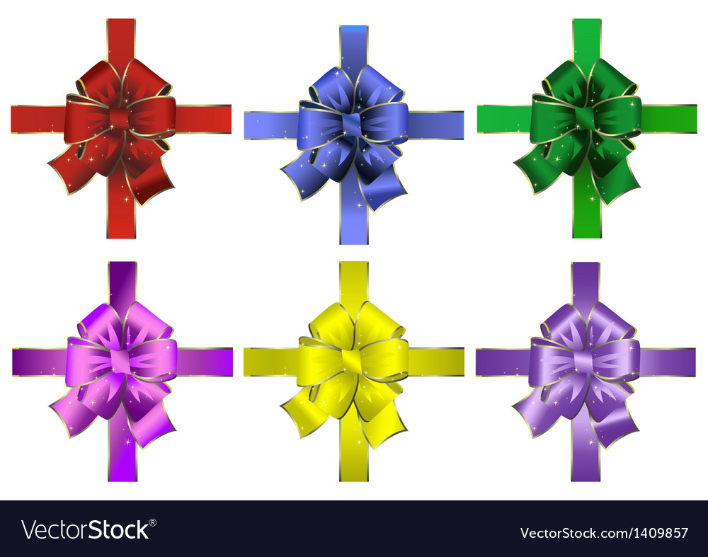 Set of abstract bows vector | Price: 1 Credit (USD $1)