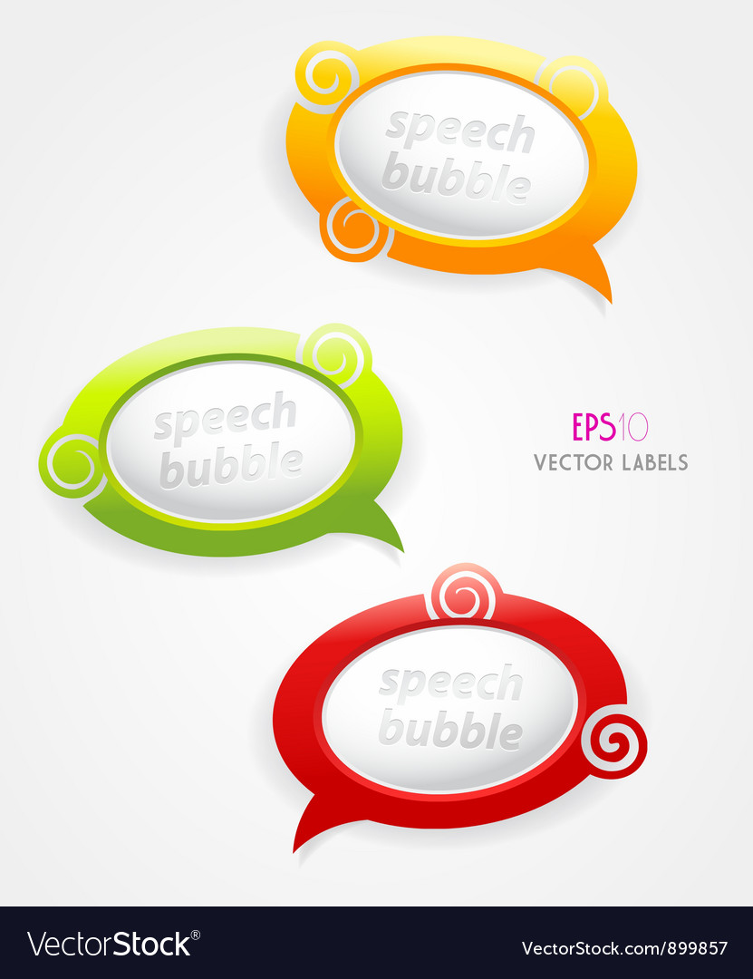 Set of speech bubbles vector | Price: 1 Credit (USD $1)