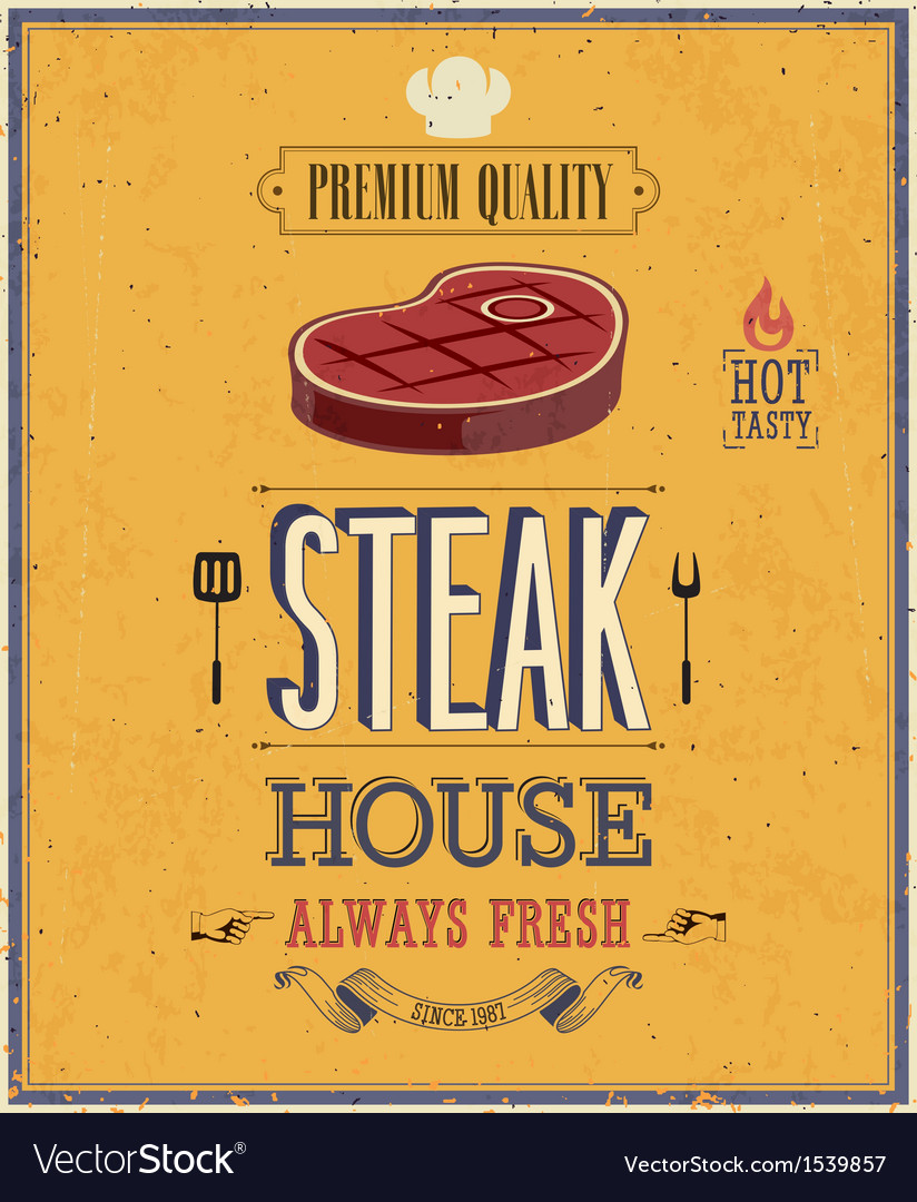 Steak house2 vector | Price: 1 Credit (USD $1)