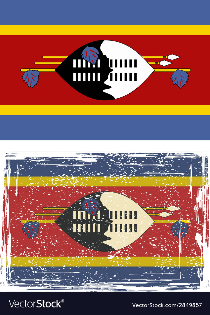 Swaziland grunge flag vector | Price: 1 Credit (USD $1)
