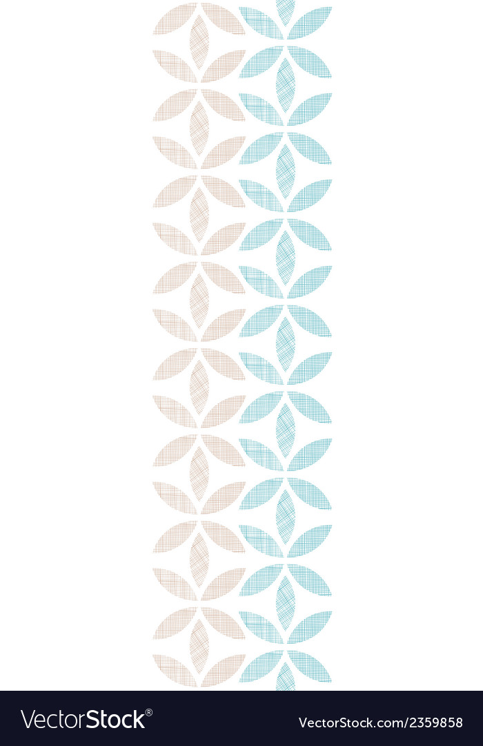 Abstract textile leaves stripes vertical seamless vector | Price: 1 Credit (USD $1)