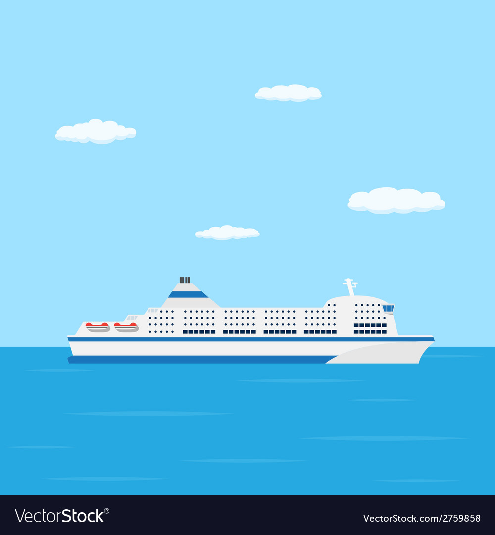 Ferry boat vector | Price: 1 Credit (USD $1)