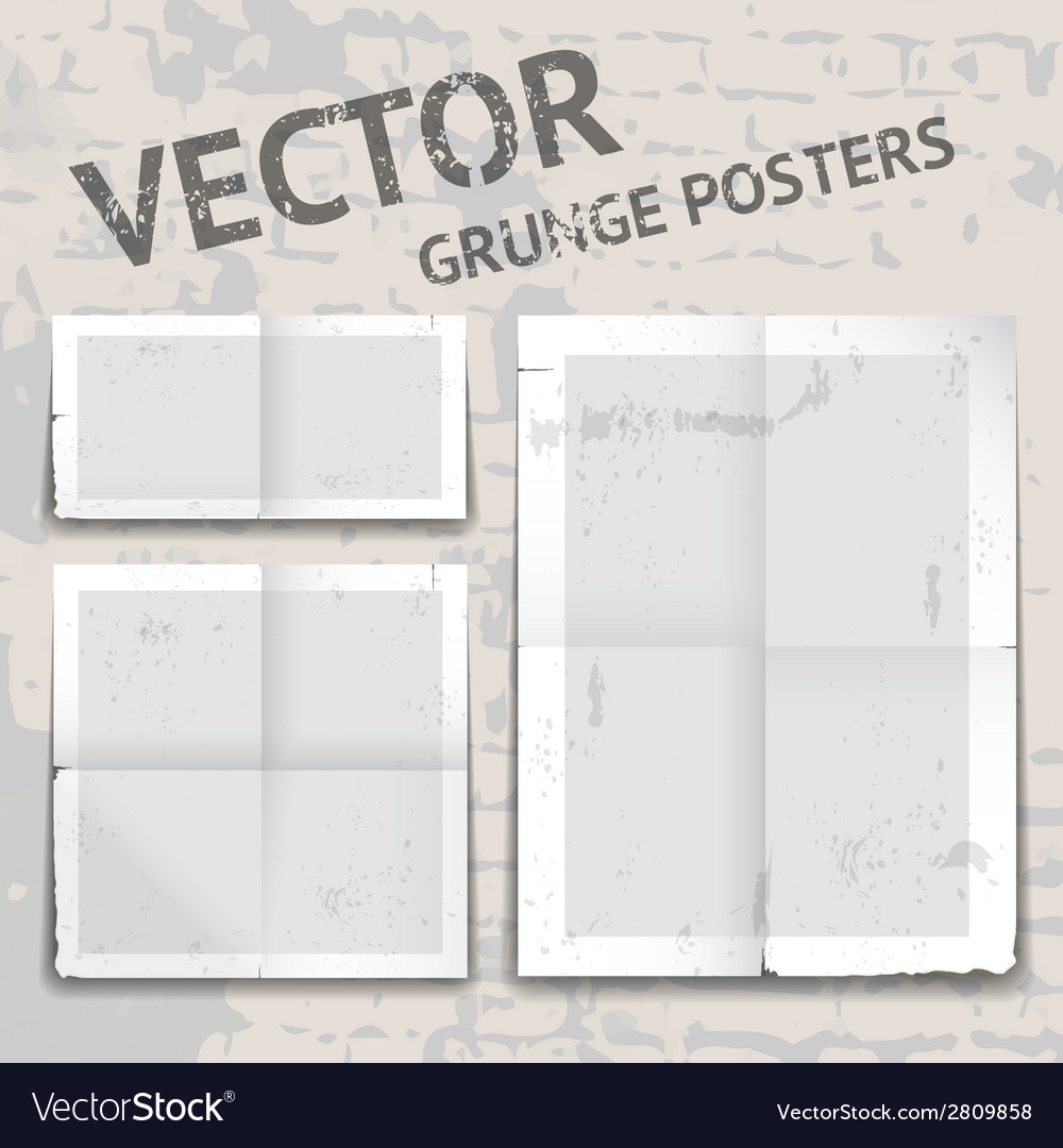 Grunge posters vector | Price: 1 Credit (USD $1)