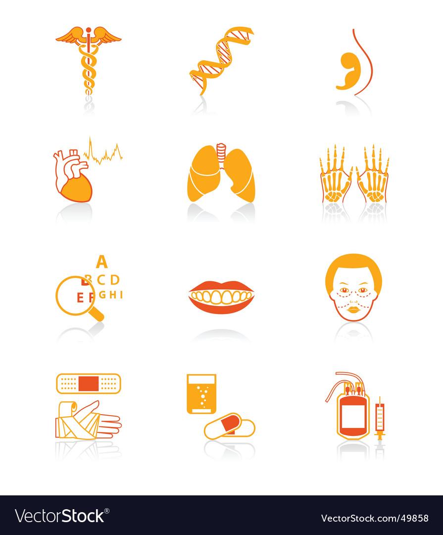 Medicine icons  juicy series vector | Price: 1 Credit (USD $1)