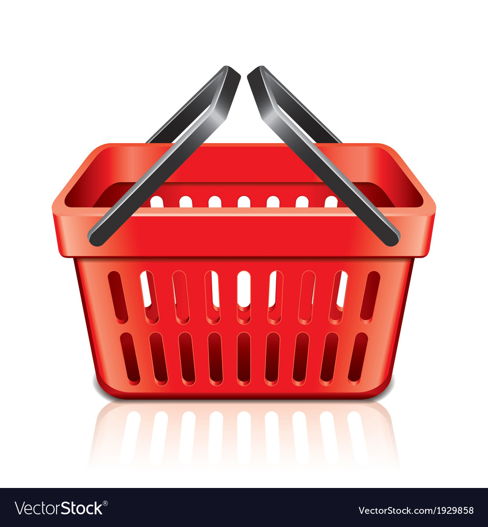 Object empty shopping basket vector | Price: 1 Credit (USD $1)