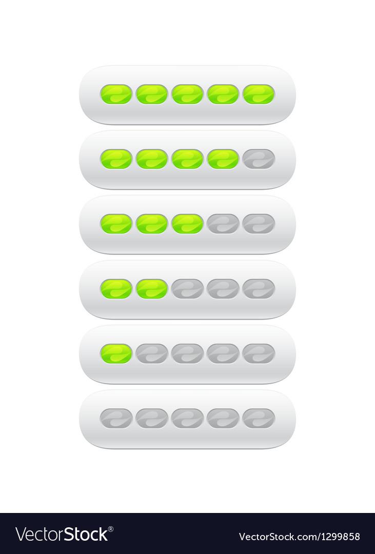 Progress bar from green ovals vector   Price: 1 Credit (USD $1)