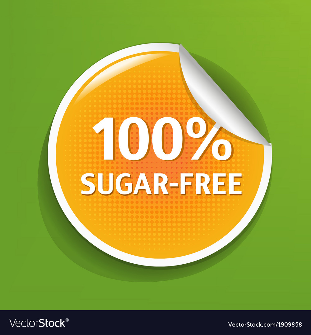 Sugar free label vector | Price: 1 Credit (USD $1)