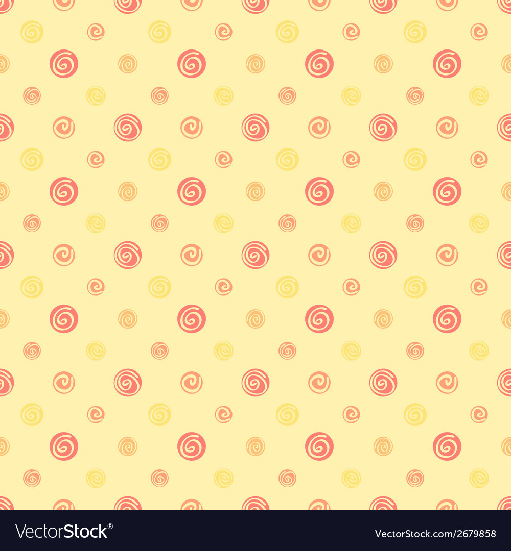 Yellow warm abstract polka dot fabric seamless vector | Price: 1 Credit (USD $1)