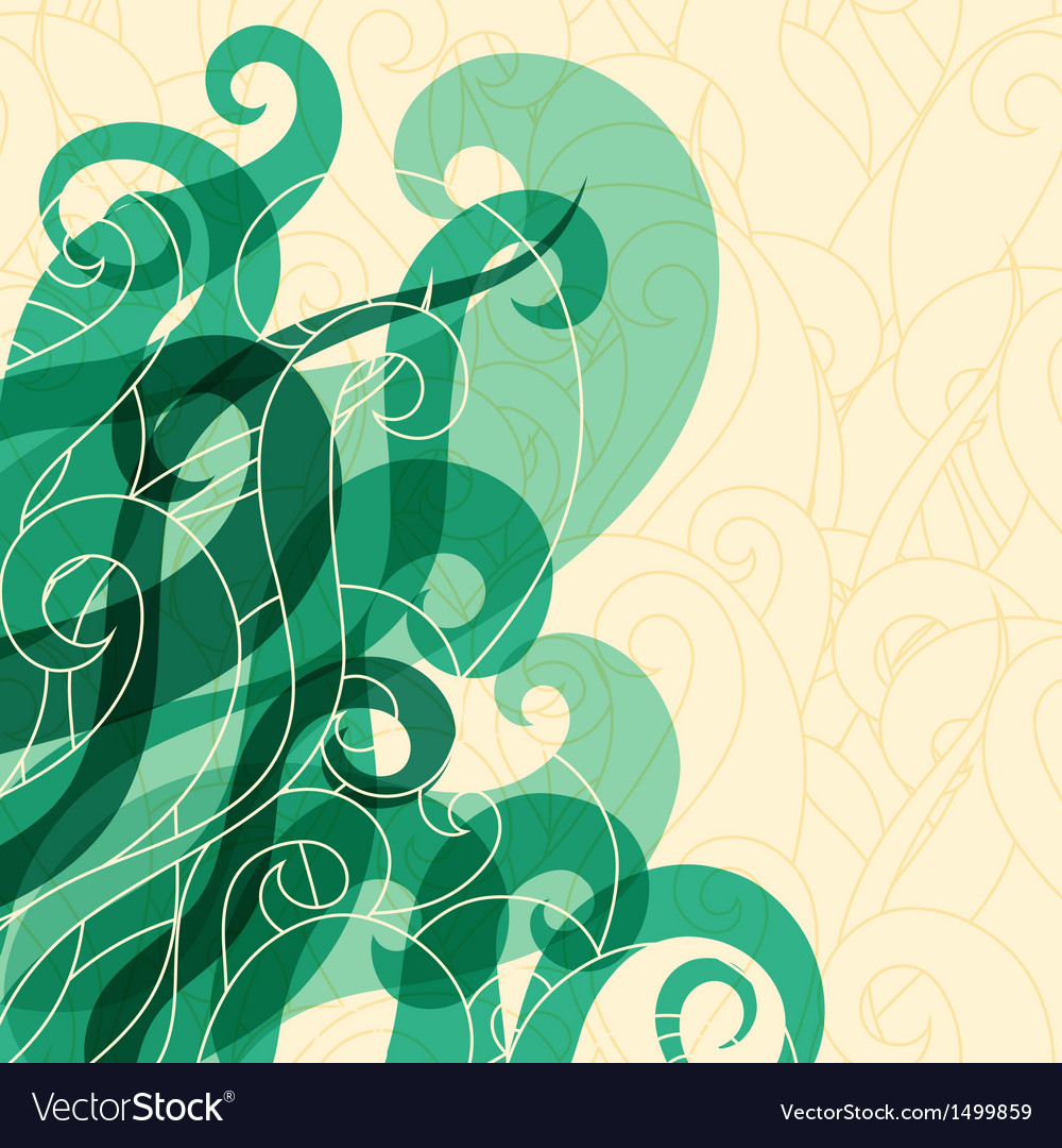 Abstract background hair curls and waves vector | Price: 1 Credit (USD $1)