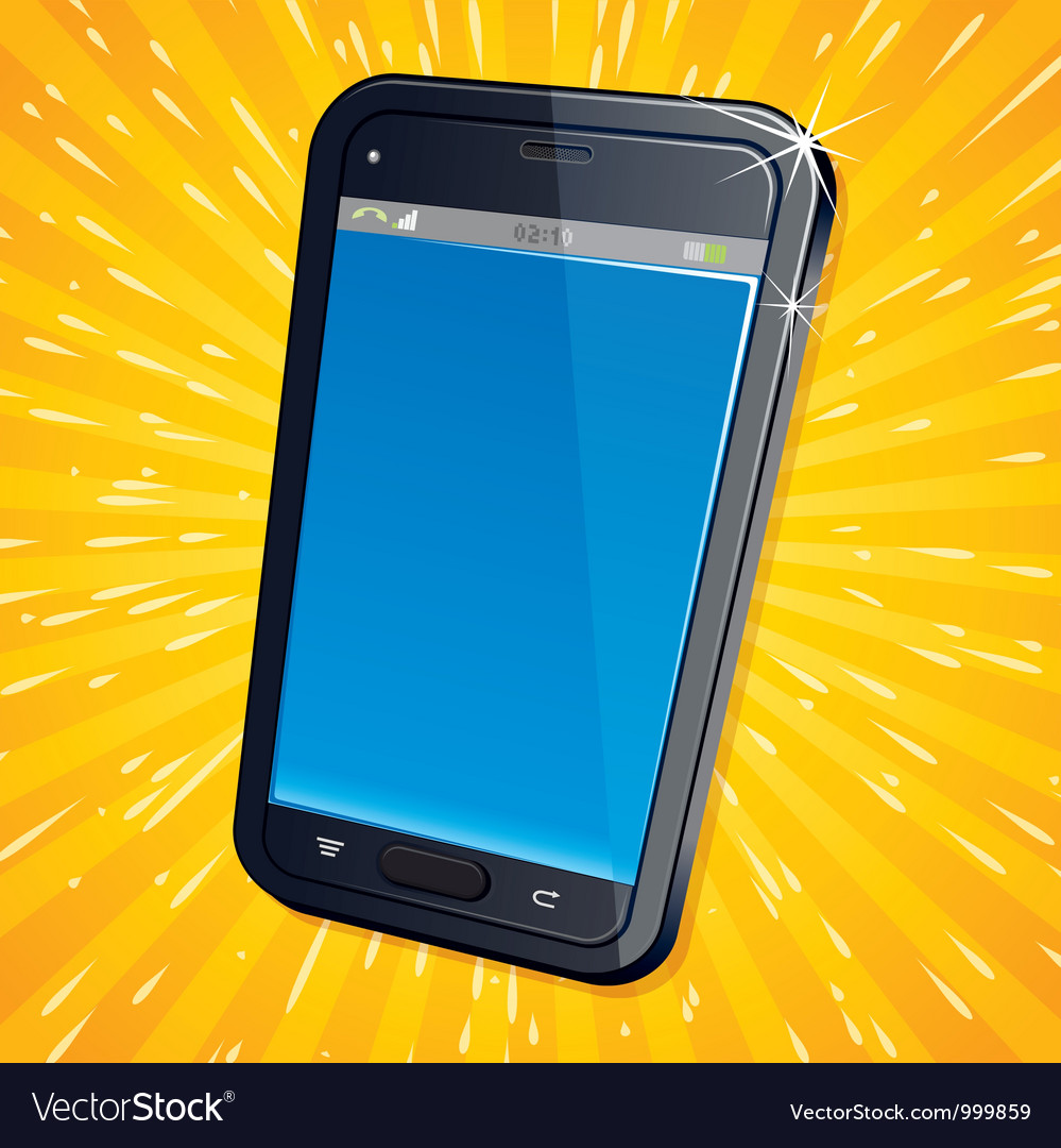 Abstract mobile smartphone vector