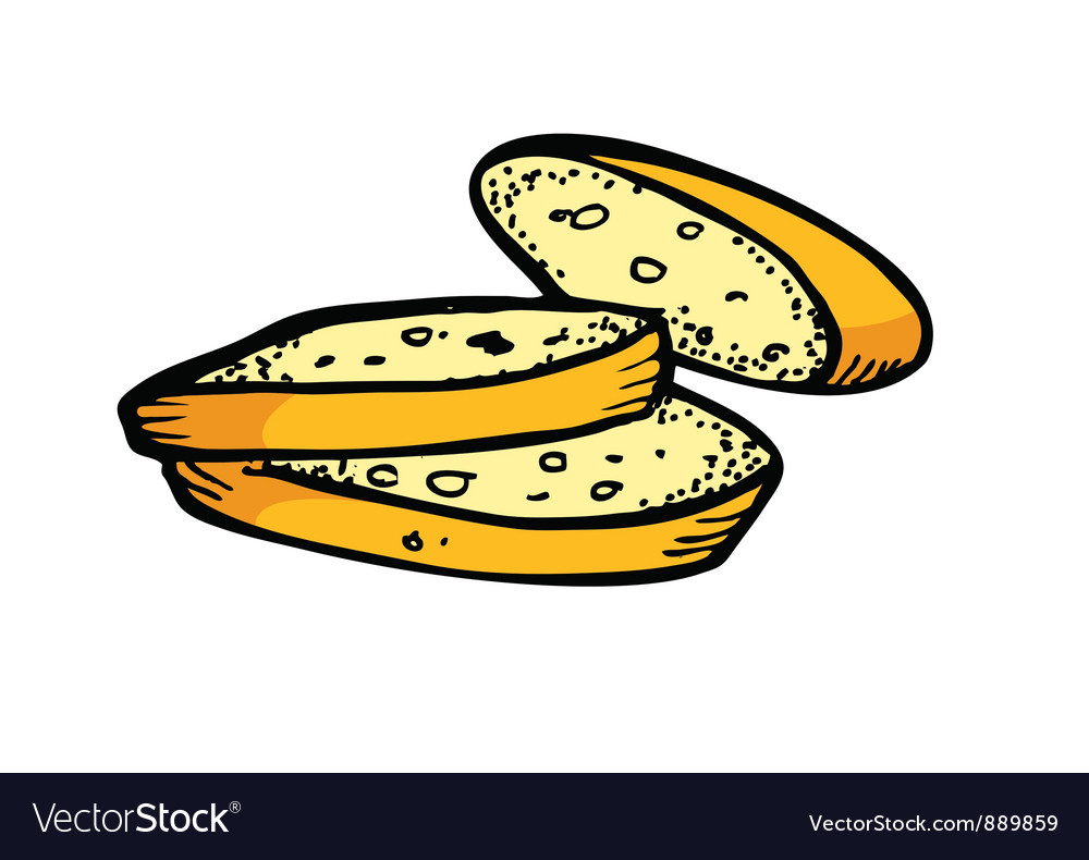 Bread slices vector | Price: 1 Credit (USD $1)