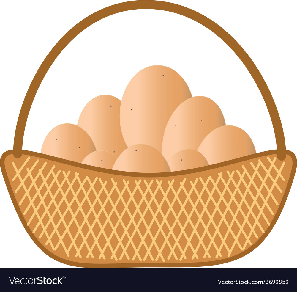 Brown eggs vector | Price: 1 Credit (USD $1)