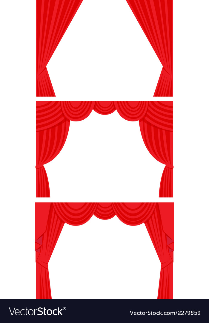 Curtain set flat style vector | Price: 1 Credit (USD $1)